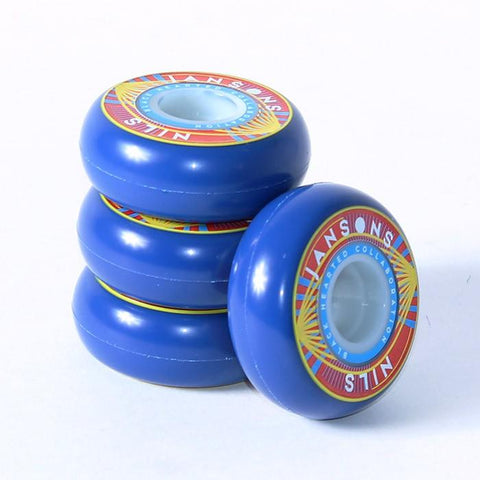 BHC Wheels Nils Janson Signature Inline Skate Wheels 60mm 4 Pack, Blue