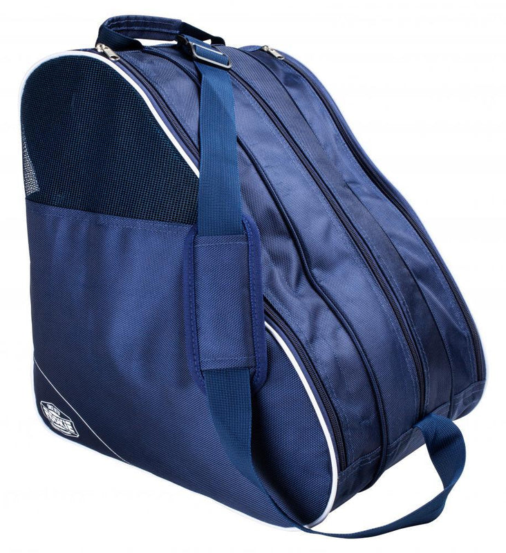 Rookie Bag Compartmental Skate Boot Bag, Navy Blue/ White Backpack Rookie