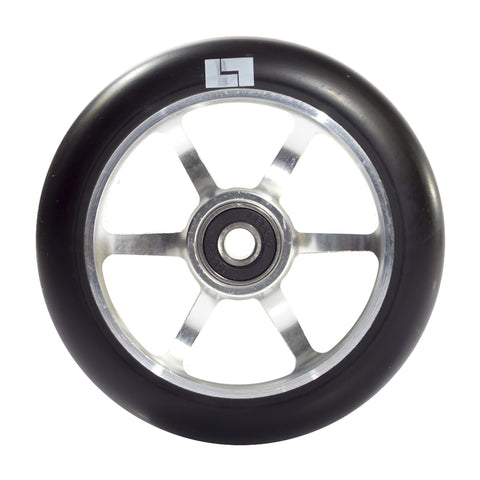 Logix Scooters 6 Spoke Stunt Scooter Wheel, Black/Silver
