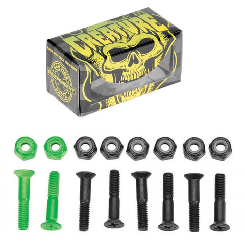 "Creature Skateboard Bolts CSFU Phillips Indy 1"" Black/Green"