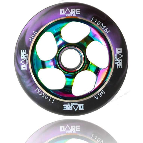 Dare Sports Stunt Scooter Wheel 110mm, Purple/Neochrome