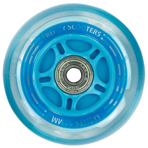 Frenzy 3 Wheel Light Up Scooter Wheel Blue - 80mm