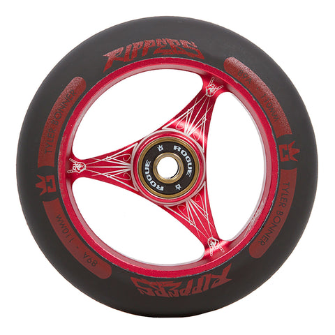 ROGUE TBone Ripper Scooter Wheels (PAIR), Red/Black