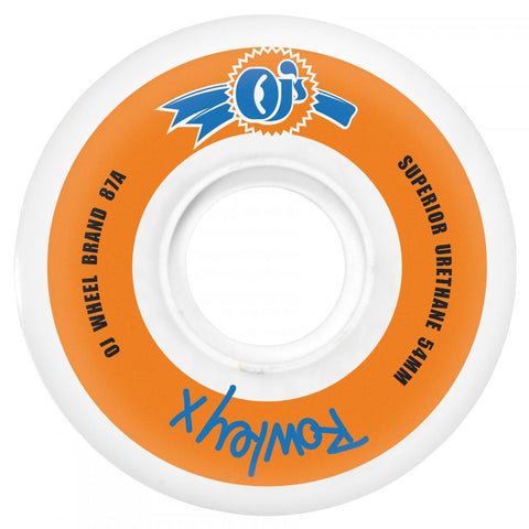 OJ Wheels Rowley Skateboard Wheels Keyframe 87a White 54 MM