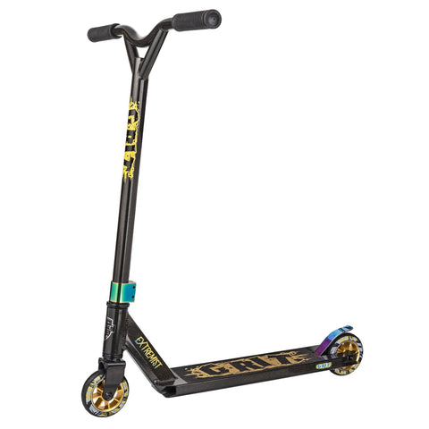 Grit Scooters 2018 Extremist Complete Stunt Scooter, Black/Gold