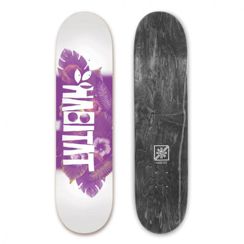 Habitat Skateboards Foligate Collage Deck 8.25, White