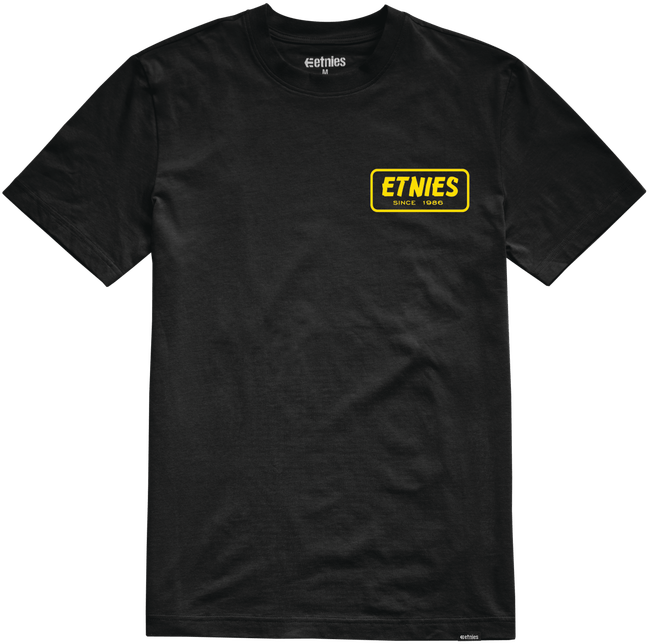 Etnies Quality Control Tshirt, Black Clothing Etnies XX Large