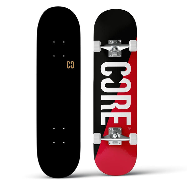 CORE Complete Skateboard C2 Split - Red/Black 7.75