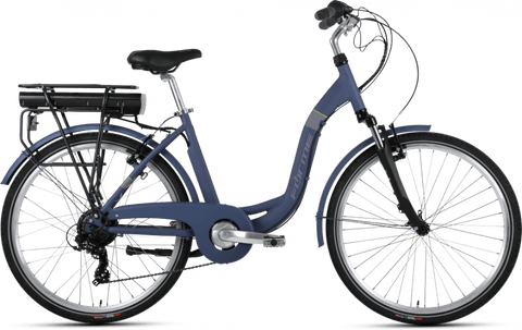 Forme Electric Bike Cromford 2ELS - Dark Blue/Lime E-Bike