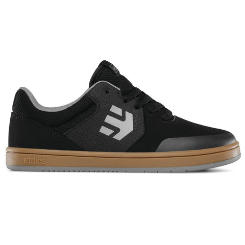 Etnies Kids Marana Skate Shoe - Black/Gum/Grey
