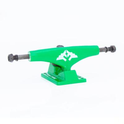 Fracture Trucks Wing Lows 5.0, Green Skateboard Fracture