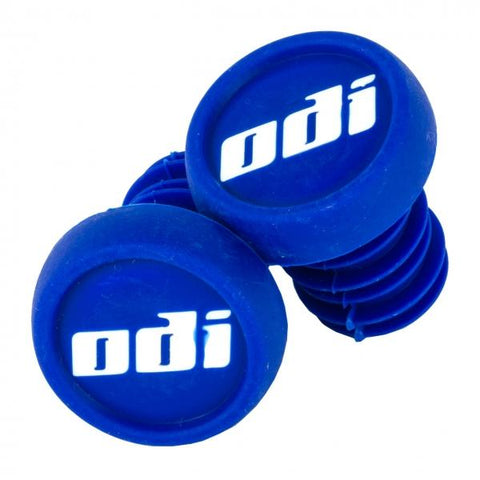 ODI Push In Bar Ends (2pcs), Blue