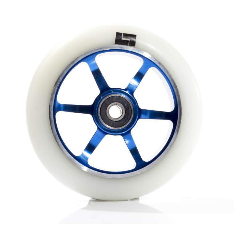 Logic 6 Spoke Wheel - White/Blue Stunt Scooter Logic