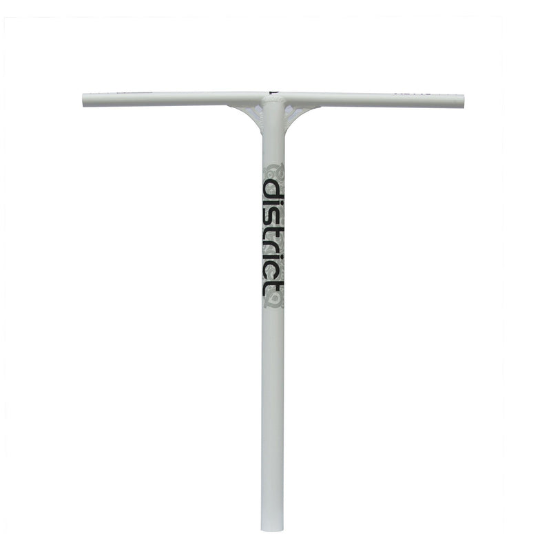 District Stunt Scooter Steel handle bars - White Scooter bars District