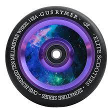 Elite Air Ride Gus Rymer Sig Scooter Wheel, Black/Galaxy