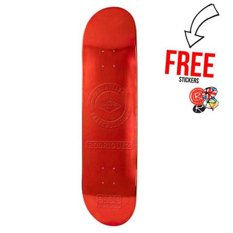 Primitive Skateboards Paul Rodriguez Foil 7.8, Red