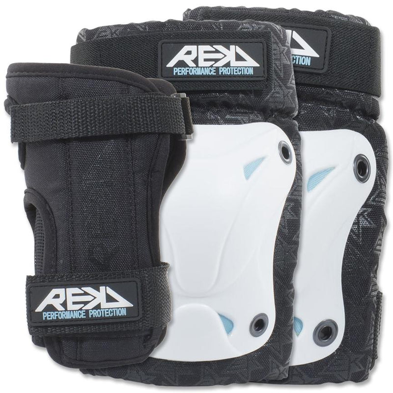 REKD Recreational Triple Pad Set, White Protection REKD Small