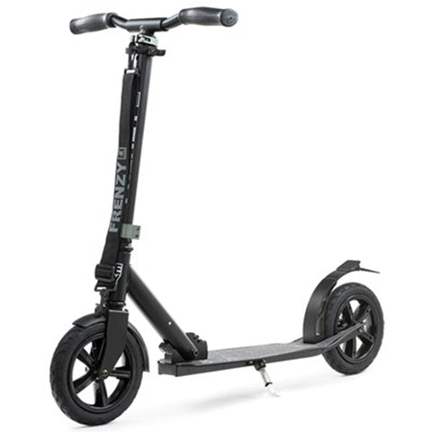 Frenzy Scooters 205mm Pneumatic Folding Scooter, Black