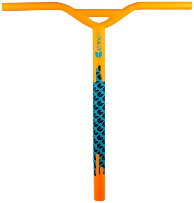 Blazer Pro Y-Bar Hi-Jack Oversized Chromoly, Orange/Blue Stunt Scooter Blazer Pro
