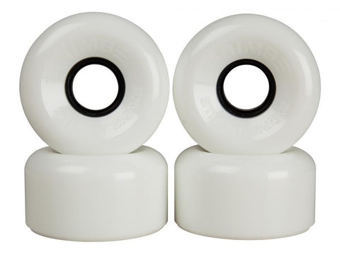 Sims Quad Skate Wheels Street Snakes 62mm/78a - White
