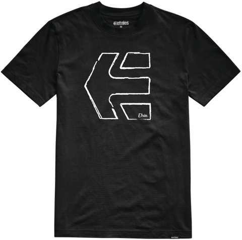 Etnies Sketch Outline Tshirt, Black