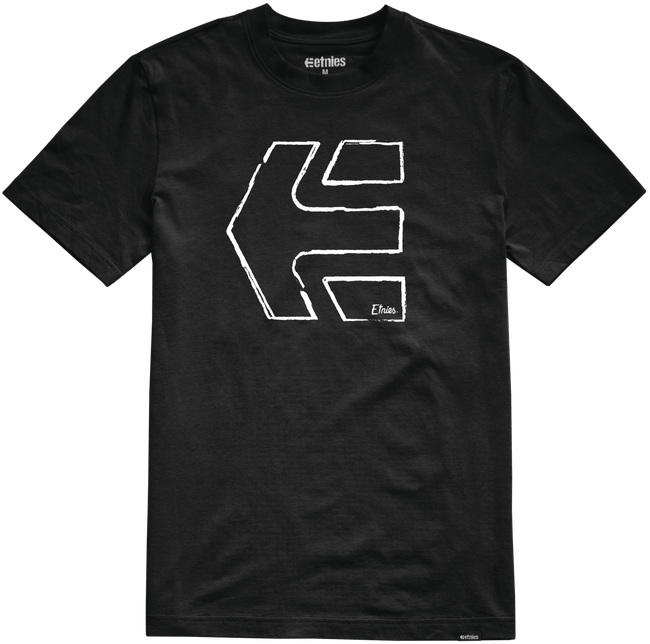 Etnies Sketch Outline Tshirt, Black Clothing Etnies XX Large