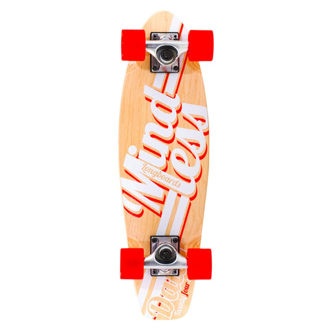 Mindless Longboard Stained Daily Cruiser - Red/Natural