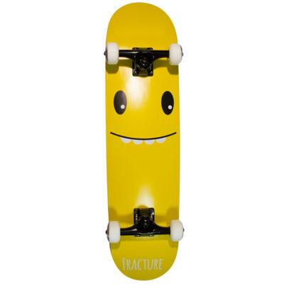 Fracture Skateboards Lil Monsters Complete 7.75, Yellow Skateboard Fracture