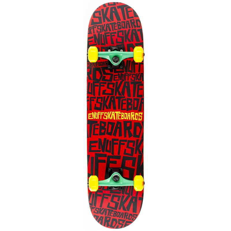 Enuff Scramble Complete Skateboard, Red/Black Skateboard Enuff