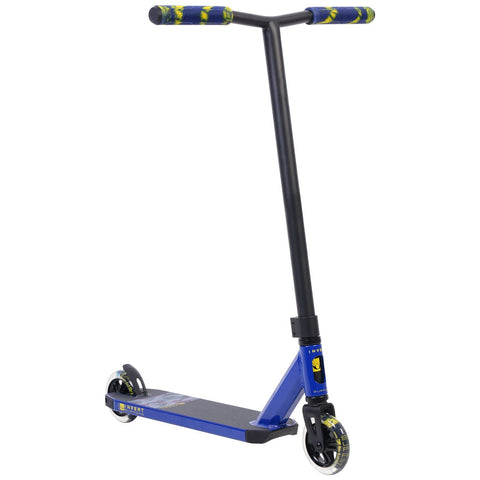 Invert Supreme 2-8-13 Complete Stunt Scooter, Blue, Yellow