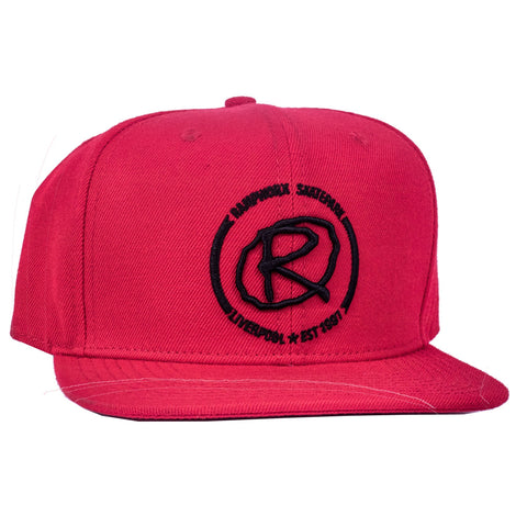 Rampworx Snapback Cap, Red/Black