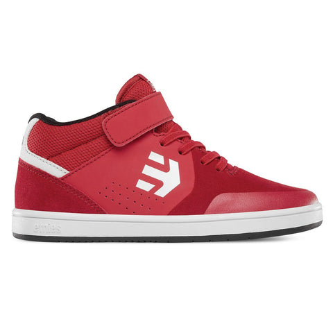 Etnies Kids Marana Mid Top Skate Shoe - Red/White/Black