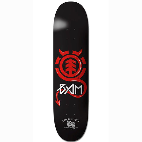 Element Skateboard Deck Bam Margera Good vs Evil 8.25