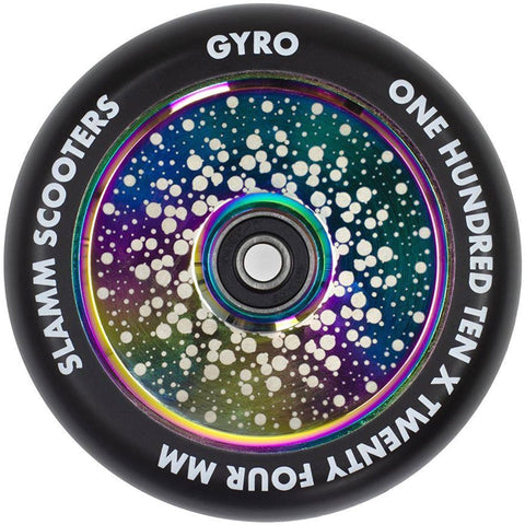 Slamm 110mm Gyro Hollow Core Wheels - Neo Chrome