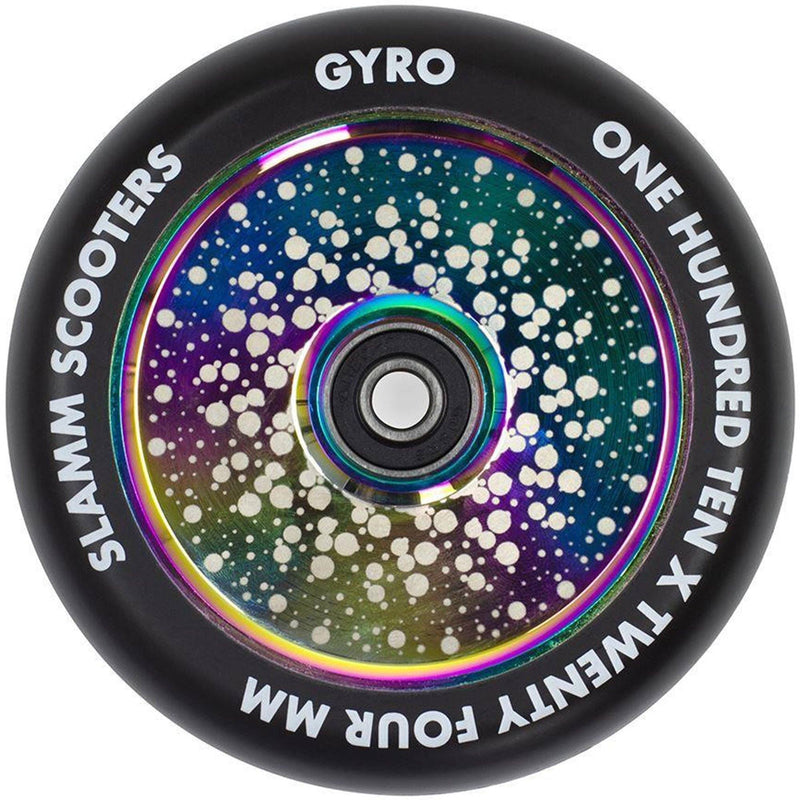 Slamm 110mm Gyro Hollow Core Wheels - Neo Chrome Scooter Wheels Slamm Scooters