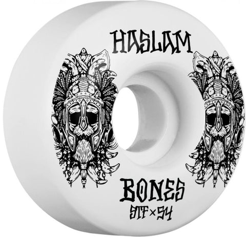 Bones Skateboard 54mm Wheels, STF Haslam Ragnar V3