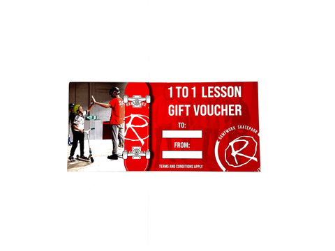 Rampworx 1 to 1 Lesson Gift Voucher