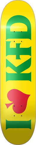 KFD Team Skateboard Deck - Love Rasta 8.25""