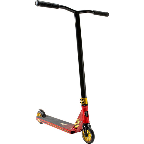 Lucky Jon Marco Gaydos Signature Pro Complete Stunt Scooter, Red/Gold