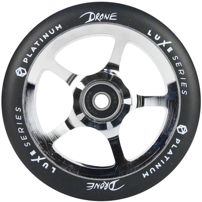 Drone Scooters Luxe Stunt Scooter Wheel 120mm, Polished Stunt Scooter Drone