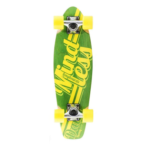 Mindless Longboard Stained Daily Cruiser - Yellow/Green