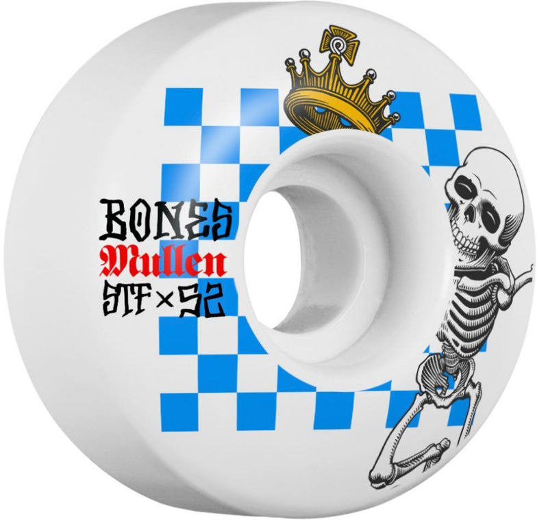 Bones Skateboard Wheels 52mm Wheels, STF Mullen Prestige V1 Skateboard Wheels Bones