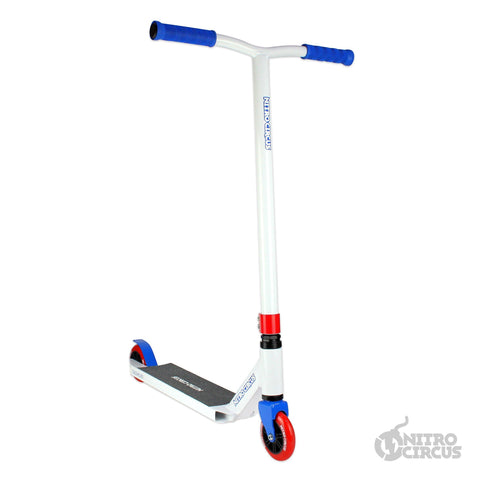 Nitro Circus Scooter CX2 Complete Stunt Scooter, White/Blue/Red