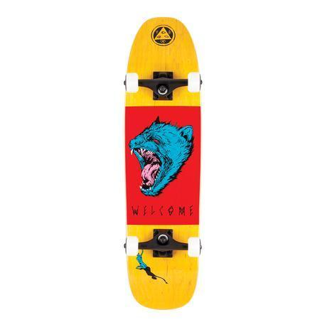 Welcome Skateboards Tasmanian Angel Complete Skateboard Yellow/Red/Blue - 8.25""
