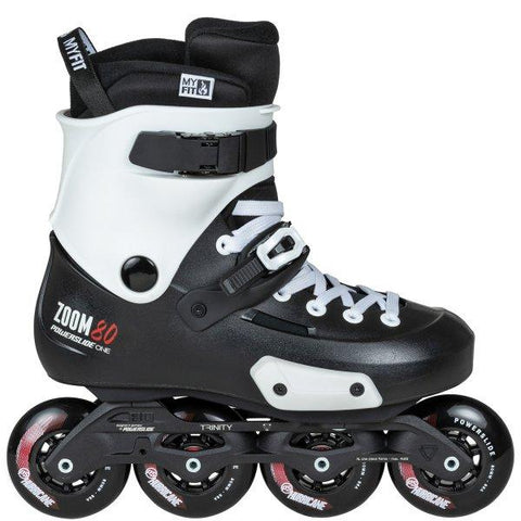 Powerslide Skates Zoom 80 Inline Skates UK10-UK11, Black EX DISPLAY WITH BOX