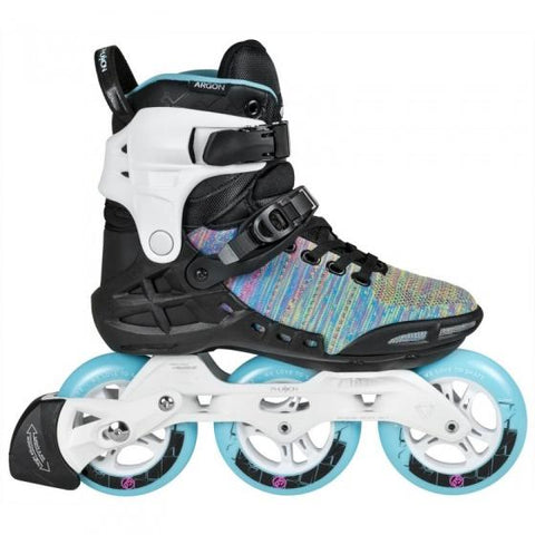 Powerslide Skates Womans Argon Inline Skates UK8, Blue EX DISPLAY WITH BOX