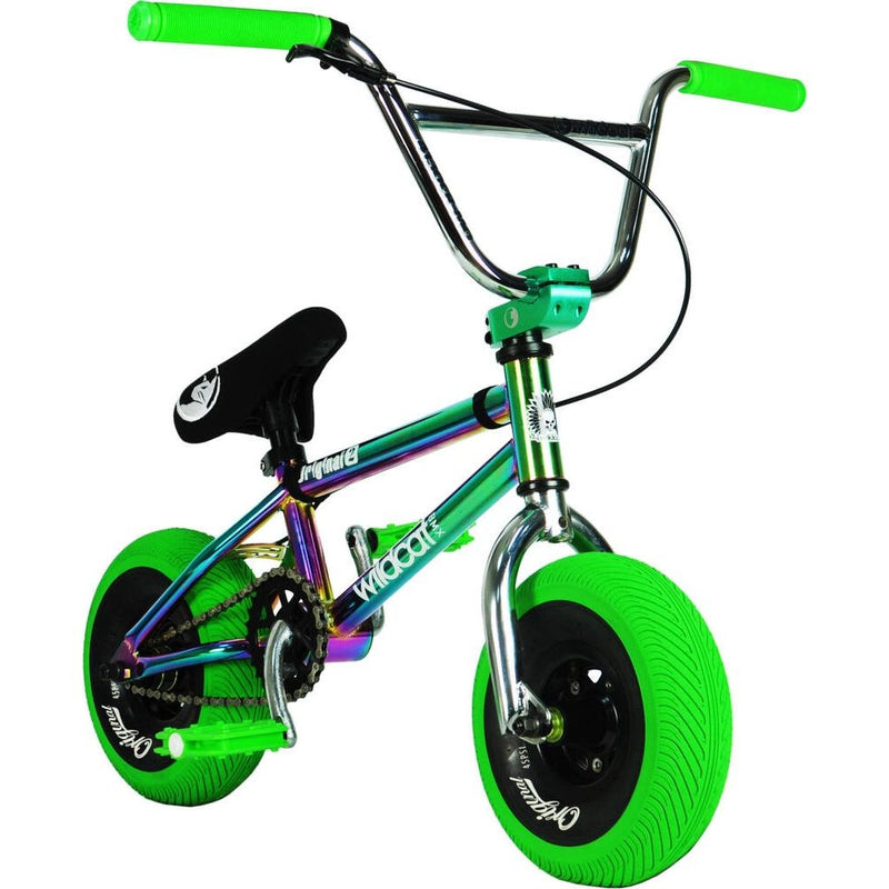 Wildcat Royal Original 2A Mini BMX Bike, Neochrome/Green Mini BMX Wildcat