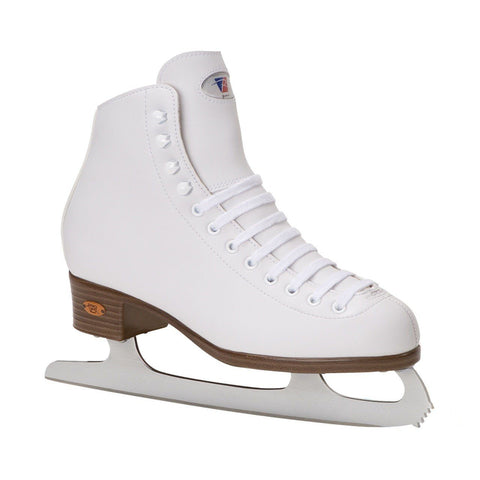 Riedell Skates F112 Medium White Ribbon Ice Skates UK9, EX DISPLAY WITH BOX