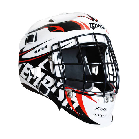 Tempish Hector Goalie Mask - Black/White (ALL SIZES)