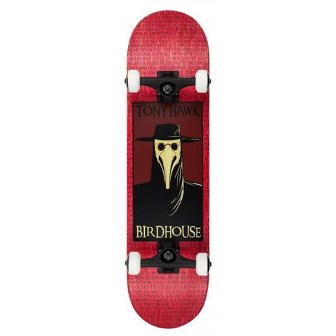 "Birdhouse Skateboards Stage 3 Complete Skateboard 8.0"" Plague Doctor Red"